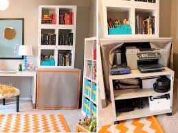 Bedroom Office Desk How To Hide A Printer Printer Storage Solutions