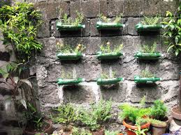 Bottle Garden Ideas Creative Planters Box Using Recycled Bottle Plastic Hanging On The