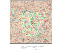 Map Of Usa With State Capitals by Large Detailed Map Of Arkansas State Arkansas State Usa Maps