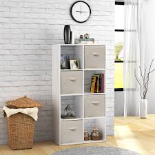 White Horizontal Bookcase by Cube Bookcase Ebay