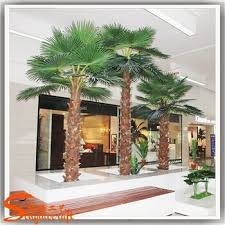 recycling durable indoor ornamental plants metal artificial palm