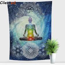 cilected buddha statue india mandala tapestry hanging wall