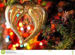 beautiful christmas picture with christmas tree and new years and
