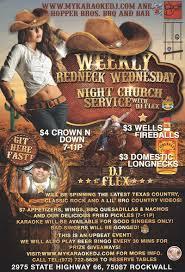 redneck home theater dj flexs weekly redneck wednesday night video deejay and karaoke