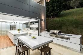 amenagement ilot central cuisine cuisines cuisine extérieure idées aménagement originales ilot