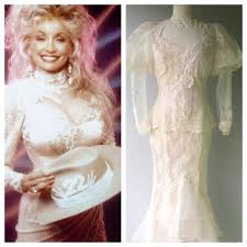 dolly parton wedding dress sold 1980s dolly parton white western dress revival vintage