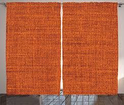 orange bedroom curtains amazon com burnt orange decor curtains by ambesonne faded burlap