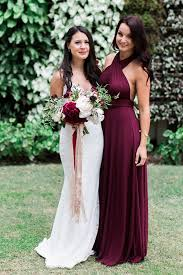 burgundy dress for wedding picture of bridesmaid in a burgundy dress