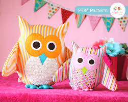 Home Decoration Pdf by Owl Pattern Pdf Sewing Pattern For Owl Soft Toy Cushion Pillow