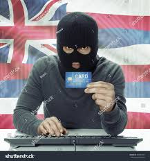 Image Of Hawaiian Flag Darkskinned Hacker Credit Card Hand Usa Stock Photo 330084059