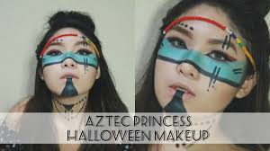 Indian Halloween Makeup Easy Aztec Princess Makeup U0026 Hair Elizabeth Clementine Youtube