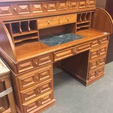 teak roll top desk teak roll top desk item 169809 second chance inc