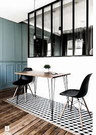 cloison vitree cuisine chaise et table salle a manger pour pose verriere interieur unique