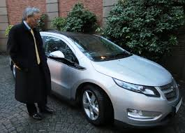 first chevy file steven chu inspects the first chevy volt to arrive in sweden
