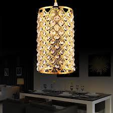 modern kitchen restaurant modern gold silver crystal pendant light fixture for dining room