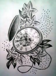 pocket watch tattoo tattooic
