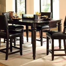 kitchen table sets with bench black high gloss wood countertops