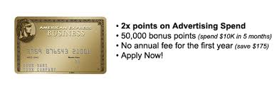 Business Gold Rewards Card From American Express New Double Rewards On Marketing And Advertising Spend