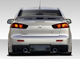 evo 10 08 15 mitsubishi lancer evo x v3 duraflex rear body kit bumper