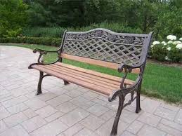 attractive iron and wood garden bench outdoor benches patio chairs