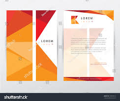 Business Letterhead Stationery Simple Design Templates Brochure Cover Letterhead Template Design Stationery Stock Vector