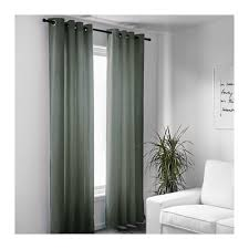 Green And Beige Curtains Sanela Curtains 1 Pair 55x98 Ikea