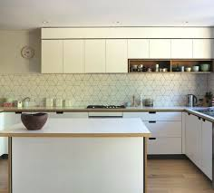Splashback Ideas For Kitchens This Geometric Tile Splashback With Darker Grout Could Be