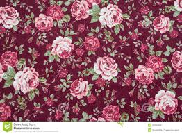 fabric retro pattern with floral ornament stock photo image