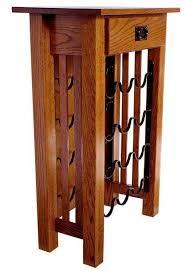 mission wine rack stand