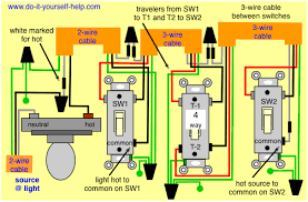 wiring diagram for 4 way light switch