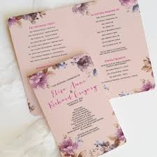 booklet wedding programs programs booklets designed with custom invitations