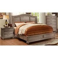 Rustic King Bedroom Sets - furniture of america calpa 4 piece queen bedroom set in rustic