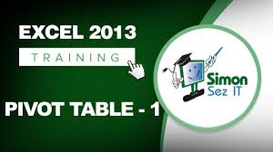 tutorial pivot table excel 2013 working with pivot tables in excel 2013 part 1 learn excel