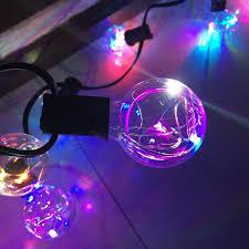 5 5m outdoor led g40 string lights garland rgb light