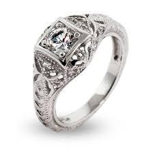 cz engagement ring deco style cz engagement ring s addiction