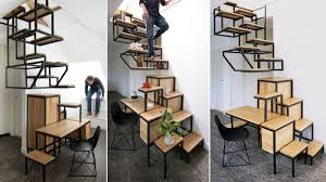 Hanging Stairs Design This Treacherous Hanging Staircase Doubles As Shelving And A Desk