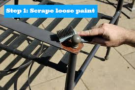 How To Remove Spray Paint From Concrete Patio Painting Metal Patio Chairs 5 Easy Steps To An Awesome Makeover