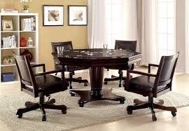 man cave table and chairs 5 pc raelle collection dark cherry finish wood man cave poker