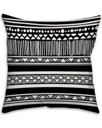 Decorative Pillow Sale Bargains On Boho Tribal Square Throw Pillow In Black White
