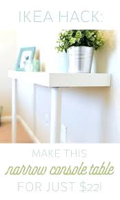 skinny console table ikea thin hallway table ikea hallway tables simple hack make this narrow