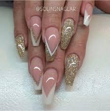 45 gold nails you wish to try gold nail art white nail polish