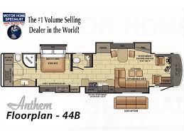 Expandable Rv Floor Plans by 2018 Entegra Coach Anthem 44b Bath U0026 1 2 Luxury Rv For Sale At