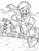 digimon anime coloring book pages