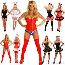 Woman Superhero Halloween Costumes Ladies Camo Leopard Nurse Bunny Mini Mouse Woman