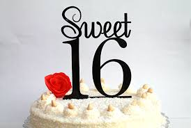 16 cake topper sweet 16 cake topper 16th birthday cake topper sweet sixteen