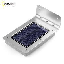 solar powered sensor security light 16 led solar new generation ledertek outdoor solar powered pir