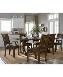 Expandable Dining Room Tables Mandara Expandable Dining Trestle Table Furniture Macy U0027s