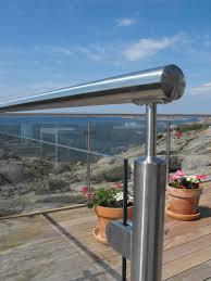 steel balustrade post glass railing modern design for balcony railing
