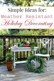 outdoor decorations weather resistant outdoor christmas decorating ideas fox hollow