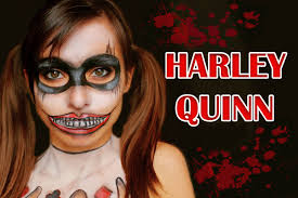 scary harley quinn halloween make up tutorial nica make up